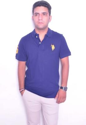 Jura Polo Solid Men's Polo Neck Black T-Shirt