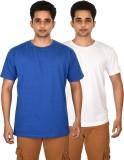 Leep Solid Men's Round Neck Blue, White ...