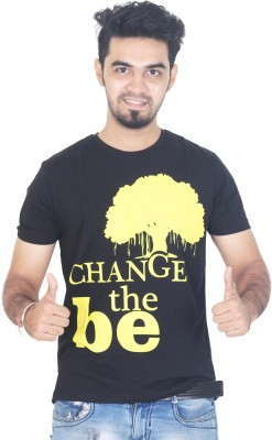 Tee Hive Graphic Print Men's Round Neck Black T-Shirt
