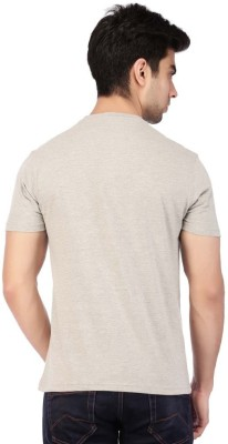ACROPOLIS by Shoppers Stop Printed Men's Round Neck Grey T-Shirt