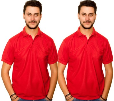 Skitt Clothing Co Solid Men's Polo Neck Red, Red T-Shirt
