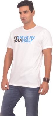 Sonic Tees Printed Men's Round Neck White T-Shirt