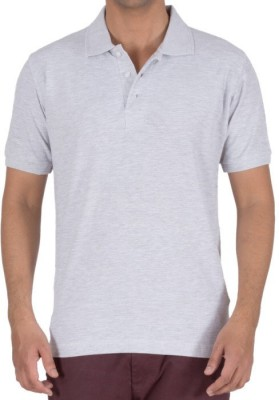 Basile Solid Men's Polo Grey T-Shirt
