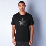Converse Solid Men's Polo Neck Black T-S...