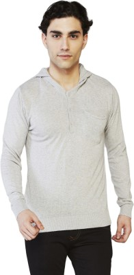 Globus Solid Men's V-neck Grey T-Shirt