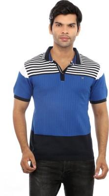 GOT IT Solid Men's Polo Neck Blue T-Shirt