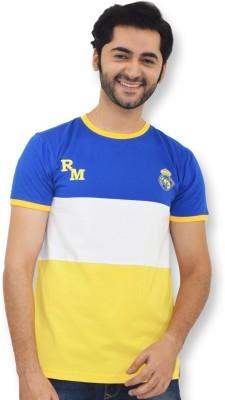 Real Madrid C.F. Printed Men's Round Neck Dark Blue T-Shirt