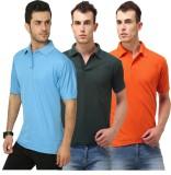 Shoppersstreet Solid Men's Polo Neck Lig...