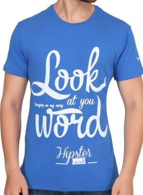 Stoke Graphic Print Men's Round Neck Dark Blue T-Shirt
