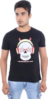 Pavitra Paapi Printed Men's Round Neck Black T-Shirt