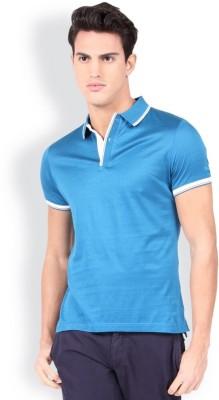 Blackberrys Self Design Men's Polo Green T-Shirt