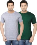 Ben Carter Solid Men's Round Neck Green,...