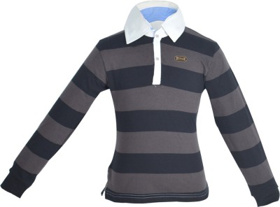 Gkidz Striped Boy's Polo Neck T-Shirt