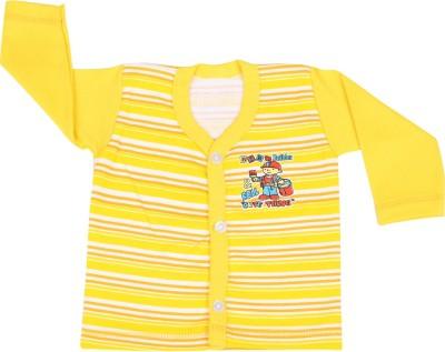 Rishan Printed Baby Boy's V-neck Yellow T-Shirt