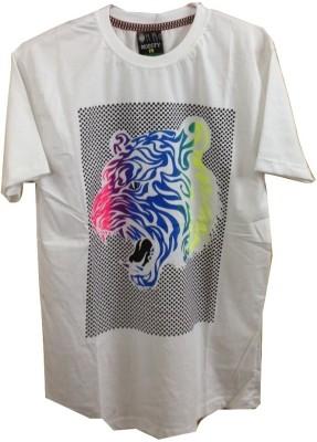 Rools Printed Men's Round Neck White T-Shirt