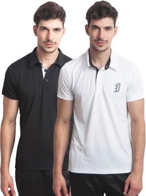 Three Degre Graphic Print Men's Polo Neck T-Shirt