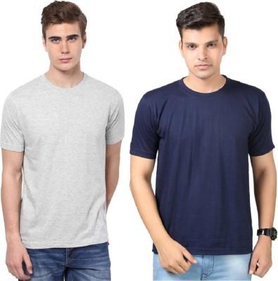 Tripr Solid Men's Round Neck Multicolor T-Shirt