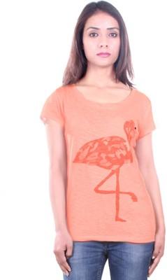 AR2 Embroidered Women's Round Neck Pink T-Shirt