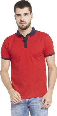 Globus Solid Men,s Polo Neck Red T-Shirt