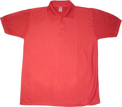 Bainsons Solid Men's Polo Red T-Shirt