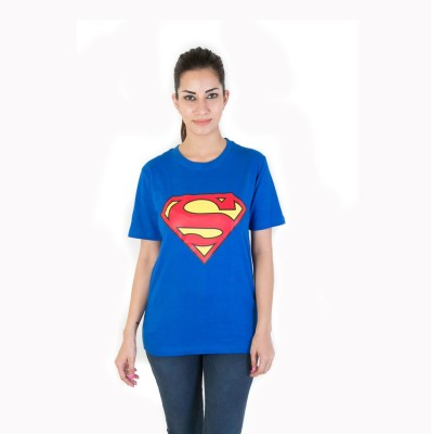 Fashion Fakir Printed Women's Round Neck Blue T-Shirt