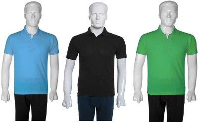 SelfieSeven Solid Men's Polo Neck Multicolor T-Shirt