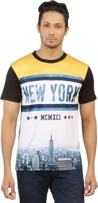 LEVELS Printed Men,s Round Neck Multicolor T-Shirt