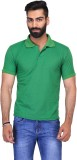 Ave Solid Men's Polo Neck Light Green T-...