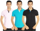 Amstead Solid Men's Polo Neck Pink, Ligh...