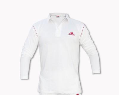 S-Mark Solid Men's Polo Neck White T-Shirt