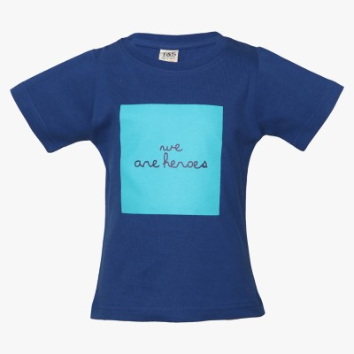 Tales & Stories Graphic Print Baby Boy's Round Neck Blue T-Shirt