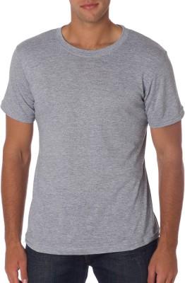 Cottolite Solid Men's Round Neck Grey T-Shirt