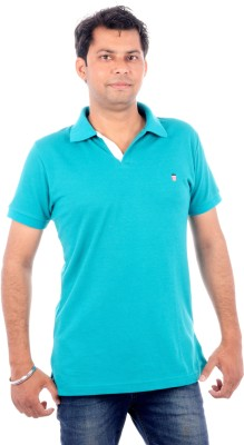 Wells Smith Solid Men,s Polo Green T-Shirt