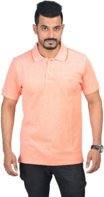Woodside Solid Men's Polo Orange T-Shirt