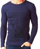 Rigo Solid Men's Round Neck Blue T-Shirt