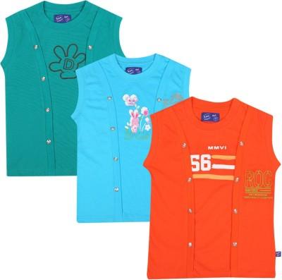 SPN Garments Printed Girl,s Round Neck Orange, Blue, Green T-Shirt