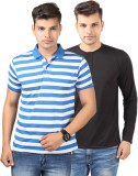 Etoffe Striped Men's Polo Multicolor T-S...