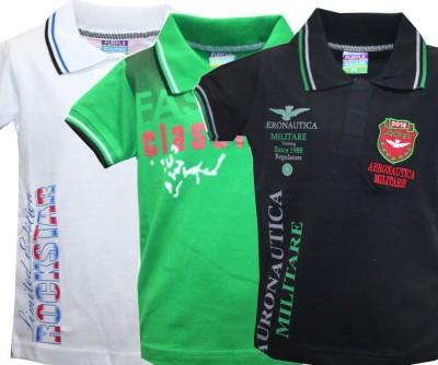 Kidsmasthi Printed Boy's Polo Neck T-Shirt