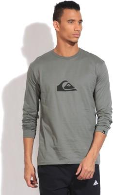 Quiksilver Solid Men's Round Neck Grey T-Shirt