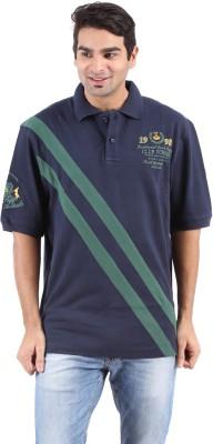 Furore Striped Men's Polo Dark Blue T-Shirt