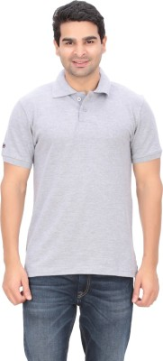 Indian Engineer Solid Men's Polo Neck Grey T-Shirt