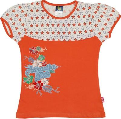 Cucumber Printed Baby Girl's Round Neck T-Shirt