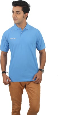TK Solid Men's Polo Neck T-Shirt
