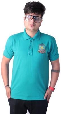 Martech Solid Men's Polo Neck Green T-Shirt