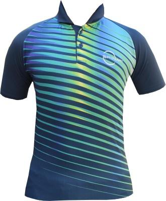 Spinart Striped Men,s, Women's Flap Collar Neck T-Shirt