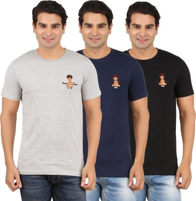 Togswear Embroidered Men's Round Neck Multicolor T-Shirt