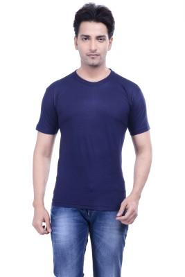 MKM Solid Men's Round Neck Blue T-Shirt