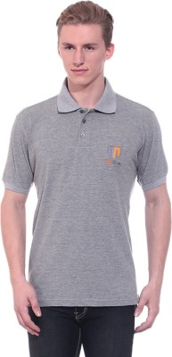 Ted Smith Solid Men's Polo Neck Grey T-Shirt