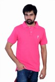 The Casanova Solid Men's Polo Neck Pink ...