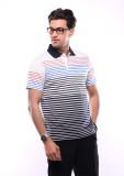 Shayan Export Striped Men's Polo Neck Mu...